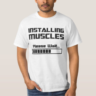 Installing Muscles Please Wait Loading Bar T-Shirt