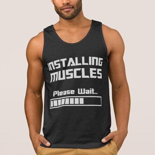 Installing Muscles Please Wait Loading Bar Tank Top