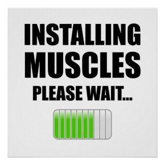 Installing Muscles Please Wait Poster