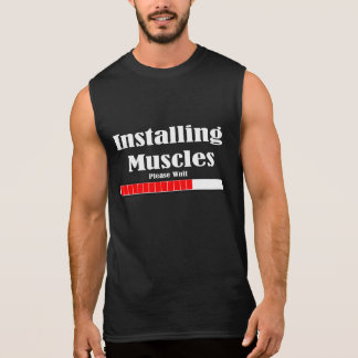 INSTALLING MUSCLES SLEEVELESS TEES