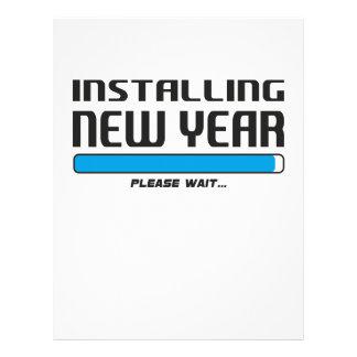 installing new year letterhead