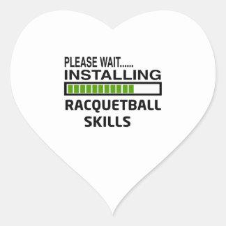 Installing Racquetball Skills Heart Sticker