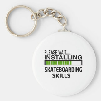 Installing Skateboarding Skills Key Chain