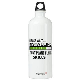 Installing Stunt Plane Flying Skills Aluminum Water Bottle