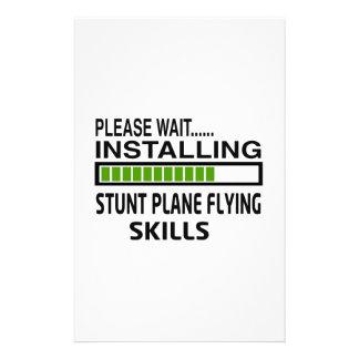Installing Stunt Plane Flying Skills Stationery Design