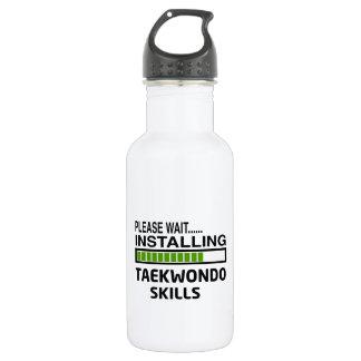 Installing Taekwondo Skills 18oz Water Bottle