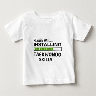 Installing Taekwondo Skills Baby T-Shirt