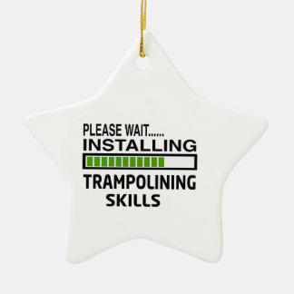 Installing Trampolining Skills Double-Sided Star Ceramic Christmas Ornament