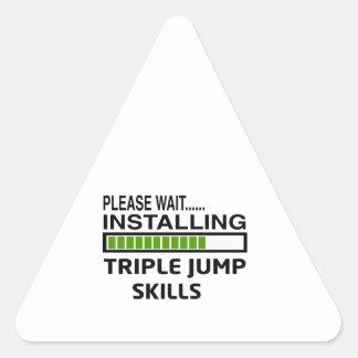 Installing Triple jump Skills Triangle Sticker