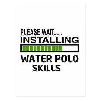 Installing Water Polo Skills Postcard