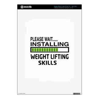 Installing Weight Lifting Skills iPad 3 Decal