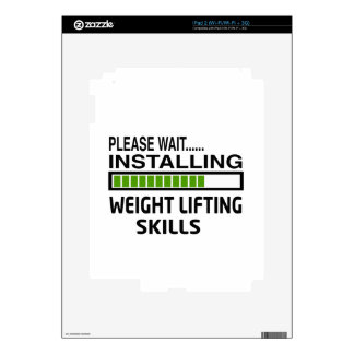 Installing Weight Lifting Skills Decal For iPad 2