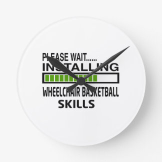 Installing Wheelchair Basketball Skills Round Wall Clock