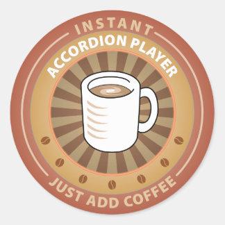 Instant Accordion Player Classic Round Sticker