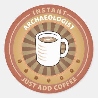 Instant Archaeologist Classic Round Sticker