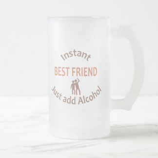 Instant Best Friend Frosted Glass Beer Mug