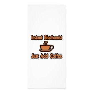 Instant Biochemist...Just Add Coffee Custom Rack Card