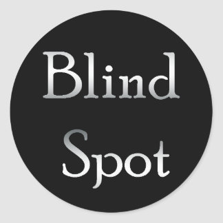 Instant Blind Spot! Add to any mirror! Classic Round Sticker