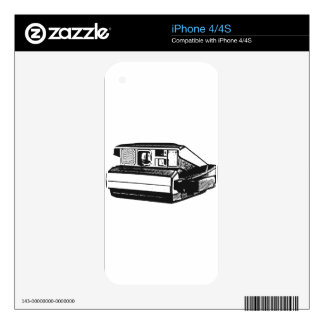 Instant Camera Decals For iPhone 4