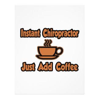 Instant Chiropractor...Just Add Coffee Flyer