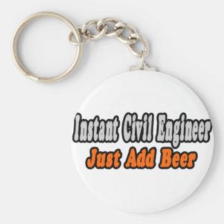 Instant Civil Engineer...Just Add Beer Basic Round Button Keychain