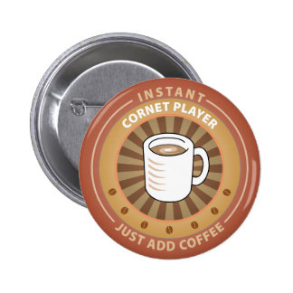 Instant Cornet Player Pinback Button