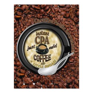 INSTANT CPA ADD COFFEE PUBLIC ACCOUNTANT CUSTOM LETTERHEAD
