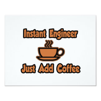 Instant Engineer...Just Add Coffee Personalized Announcements