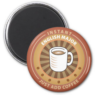Instant English Major 2 Inch Round Magnet