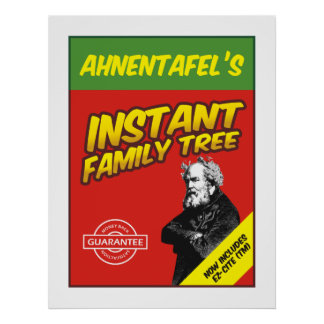 Instant Family Tree Poster