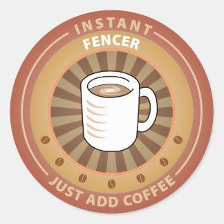Instant Fencer Classic Round Sticker
