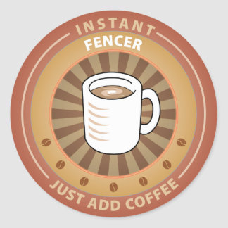 Instant Fencer Round Stickers