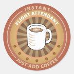 Instant Flight Attendant Classic Round Sticker