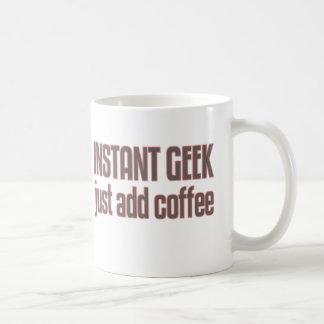 Instant Geek Just Add Coffee Classic White Coffee Mug