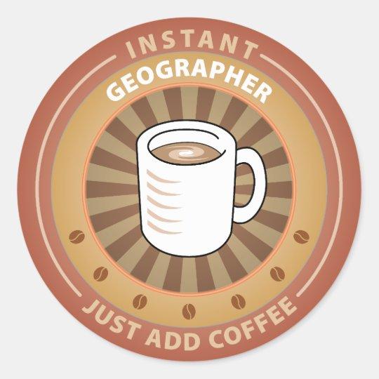 Instant Geographer Classic Round Sticker