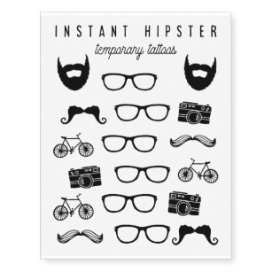 Hipster Temporary Tattoos | Zazzle