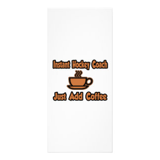Instant Hockey Coach...Just Add Coffee Full Color Rack Card