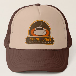 Instant Human Just Add Coffee Cool Fun Hat or Cap
