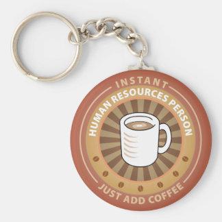 Instant Human Resources Person Basic Round Button Keychain
