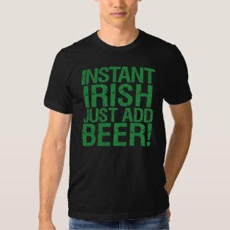 Instant Irish Just Add Beer Tee Shirt