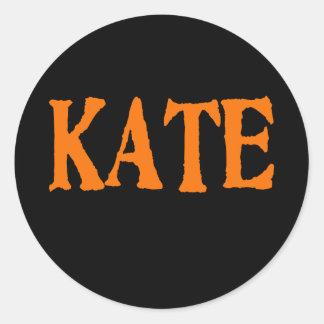 Instant Kate Costume Classic Round Sticker