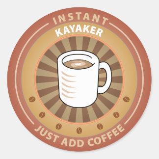 Instant Kayaker Round Sticker