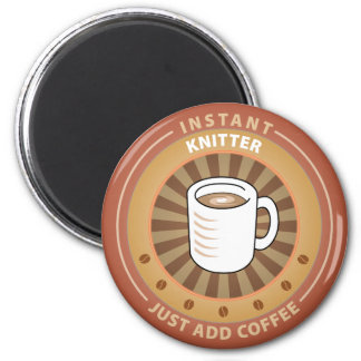 Instant Knitter 2 Inch Round Magnet