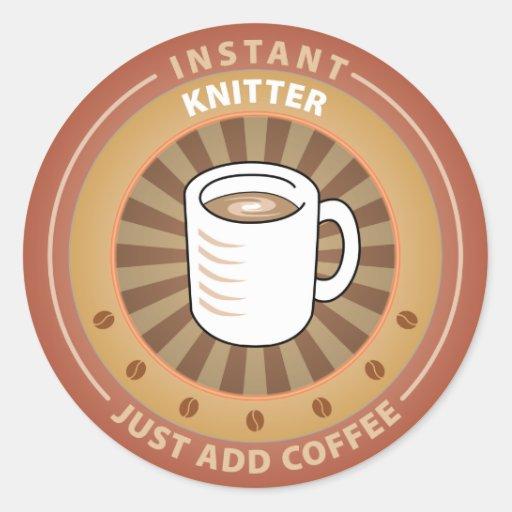 Instant Knitter Round Sticker