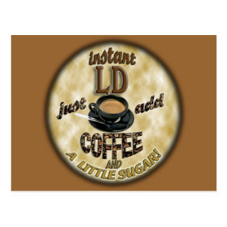 INSTANT LD - LICENSED DIETITIAN - ADD COFFEE POSTCARD