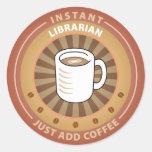 Instant Librarian Classic Round Sticker