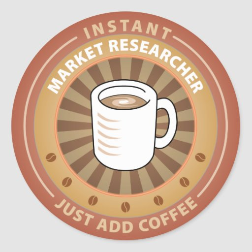 Instant Market Researcher Round Sticker