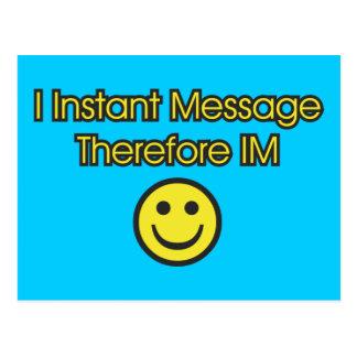 Instant Message Existentialism Postcard