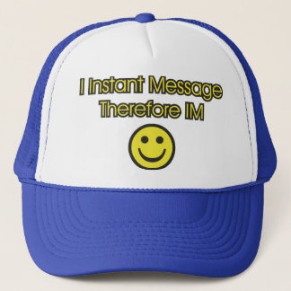 Instant Message Existentialism Trucker Hat