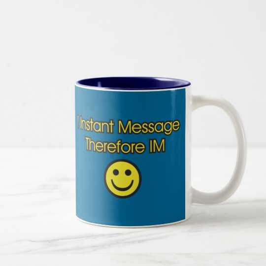 Instant Message Existentialism Two-Tone Coffee Mug